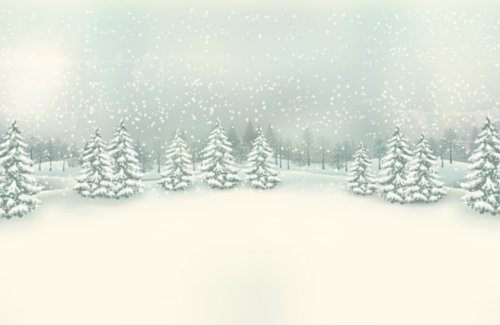 Christmas Tree Background in Snow