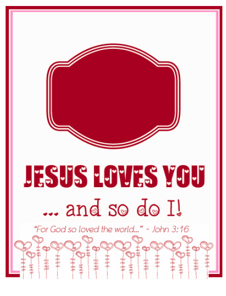 "... Printable ""Jesus Loves You"" Valentine and DIY Necklace - FaithGateway"