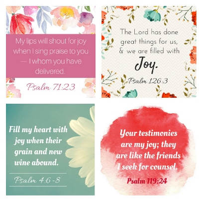 graphic regarding Free Printable Scripture Verses named 10 No cost Devotions relating to Pleasure + Bible Verse Printables