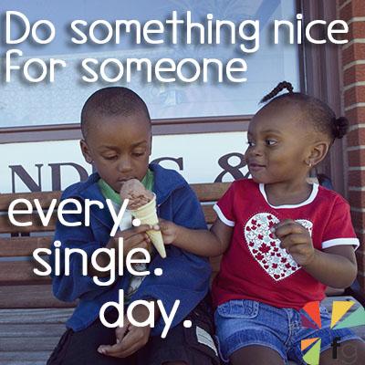 Boy And Girl Sharing Ice Cream Cone