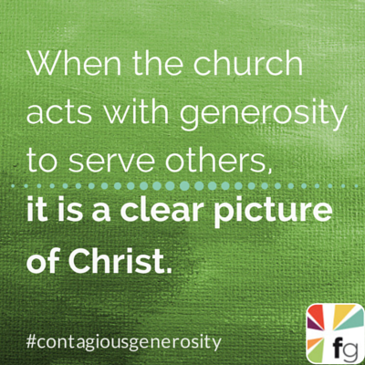 Generosity Is a Clear Picture of Christ